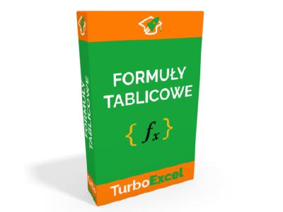 TurboExcel kurs Excel Formuły Tablicowe