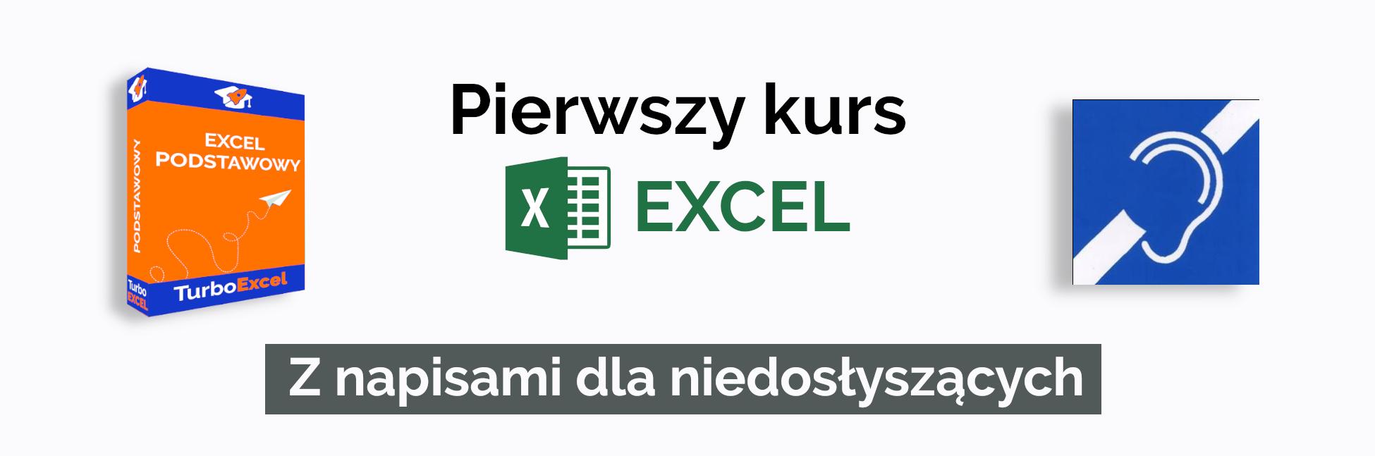 kursy Excel z napisami dla niedosłyszących i głuchych
